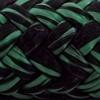 Photo d'un cordage ame dyneema polypropylene noir et vert punch