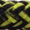 Photo d'un cordage polyester noir et jaune france olympe