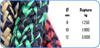 Une photo de specs du cordage marin callisto de la marque Lancelin