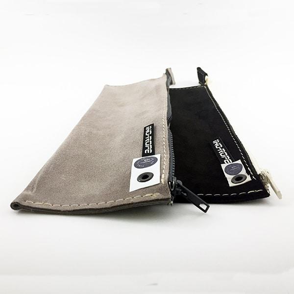 Photo trousse de mateloteur en cuir plate noir et grise