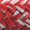 photo d'un cordage ame dyneema ensimé blanc et rouge albatros