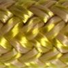 Une photo d'un cordage or et blanc