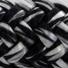 Une photo d'un cordage noir et blanc