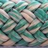 Une photo d'un cordage cyan et blanc